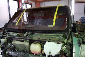 ハイエースコートテクト(COAT TECT)ガラス交換