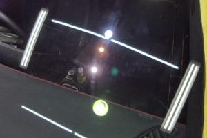 メルセデスベンツ CLA45 フロントガラス磨き