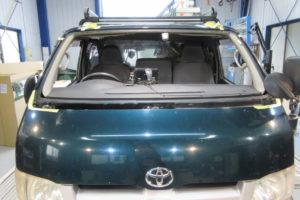 トヨタ ハイエース200系標準 純正品中古フロントガラス交換