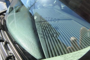 トヨタ bB NCP34 サンテクト断熱フロントガラス交換