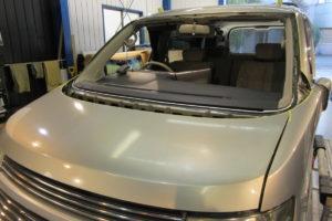 日産 エルグランドE51 コートテクト熱反射フロントガラス交換
