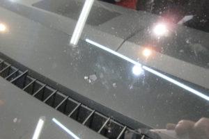 マツダ MPV LY サンテクト断熱フロントガラス交換