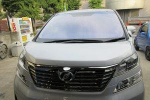 トヨタ ヴェルファイア20 コートテクト熱反射フロントガラス交換
