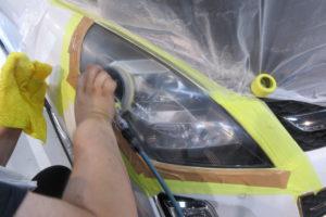 マツダ MPV LY ヘッドライト磨き
