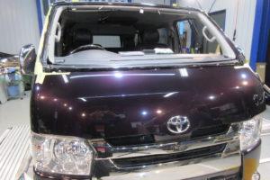 トヨタ ハイエース200系標準 フロントガラス交換(純正中古品)