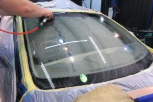 日産 ムラーノZ50 フロントガラス研磨