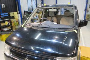 三菱 ekワゴンH82W フロントガラス交換SUNTECT