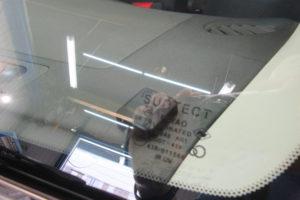 日産 キューブZ12 サンテクト断熱フロントガラス交換他