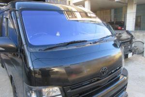 トヨタ ハイエースワイド 熱反射フロントガラス交換コートテクト