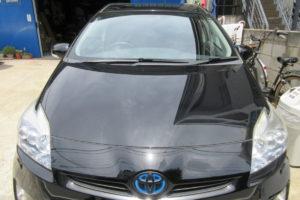 トヨタ プリウス30 純正品中古フロントガラス交換