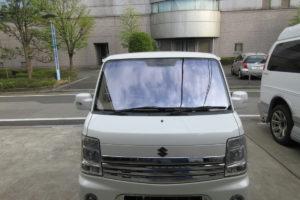 スズキ エブリィワゴンDA64 コートテクト熱反射フロントガラス交換