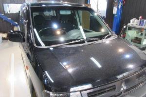三菱 ekワゴン フロントガラス交換SUNTECT