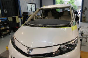 トヨタ エスティマ50 コートテクト熱反射フロントガラス交換