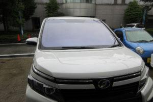 トヨタ ヴォクシー80 コートテクト熱反射フロントガラス交換