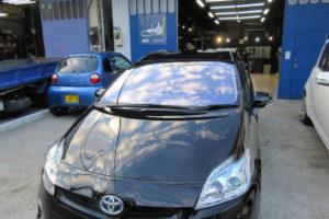 トヨタ プリウス30 コートテクト熱反射フロントガラス交換