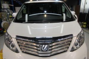 トヨタ アルファード20 断熱フロントガラス サンテクト交換