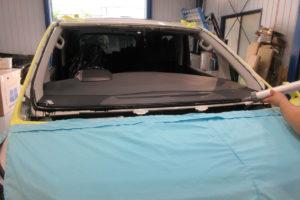 トヨタ ヴェルファイア30 コートテクト熱反射フロントガラス交換