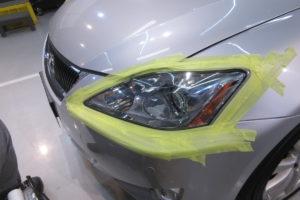レクサス IS20 ヘッドライト磨き