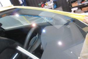 メルセデスベンツ E350 クーペ フロントガラス研磨