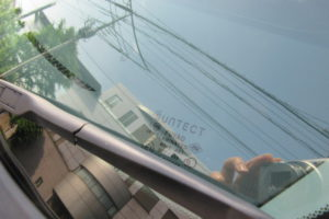ホンダ ステップワゴンRF8 サンテクト断熱フロントガラス交換
