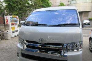トヨタ ハイエースワイド コートテクト熱反射フロントガラス交換