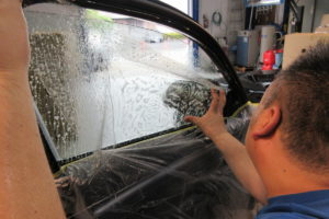 BMW 320dツーリング 断熱フィルム施工