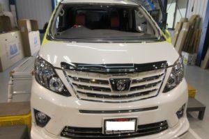 トヨタ アルファード20 コートテクト熱反射フロントガラス交換
